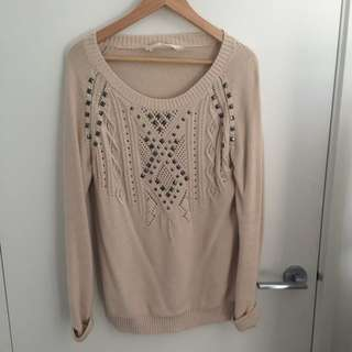 Long sleeve cable knit (Seed)