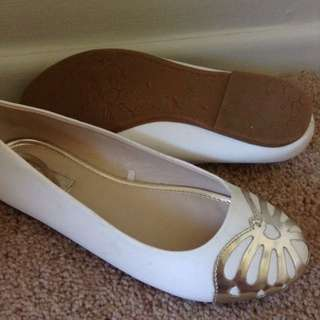 White Formal Flats