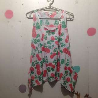 Loose Flowy Tank Top Fruity Design
