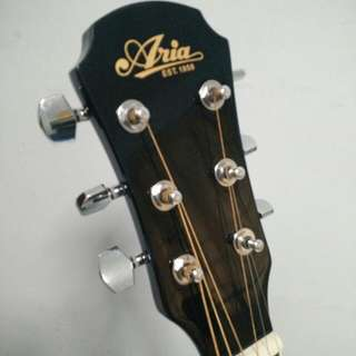 Aria Semi Acoustic Guitar With Amplifier