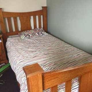 King Single Timber Bed Frame
