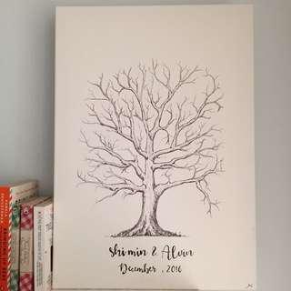 Custom Made Wedding Tree Canvas