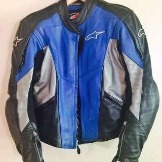 Alpinestars men's leather jacket incl Dainese back shield G2