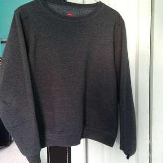 Grey Simple Sweater
