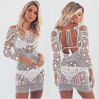 Tiger Mist Crochet Dress