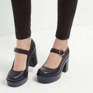 Black Mary Jane Shoes Size 7