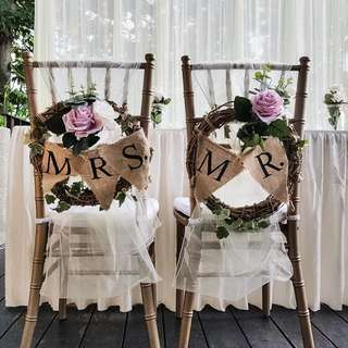 FOR RENT: Wedding Chair Decor