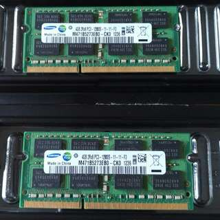 8GB [2x4gb] PC3 12800 Notebook Ram.