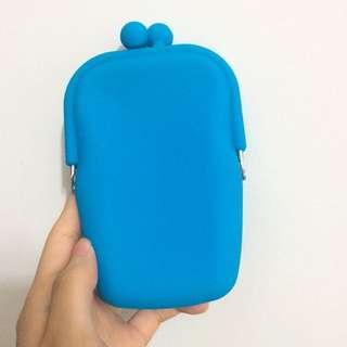 藍色 手機殼 Iphone5 口金包 圓珠