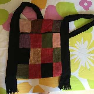 Knitted sling bag