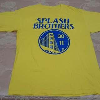 勇士隊 Golden State Warriors Stephen Curry Klay Thompson Splash brothers 浪花兄弟 咖哩 NBA T shirt