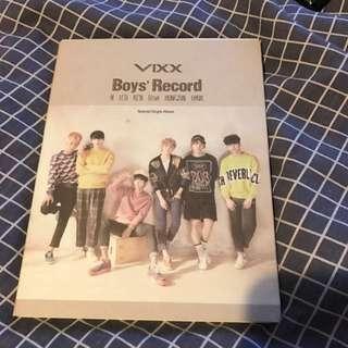 Vixx Boys Record Album