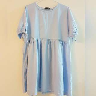 正韓淺藍洋裝👗