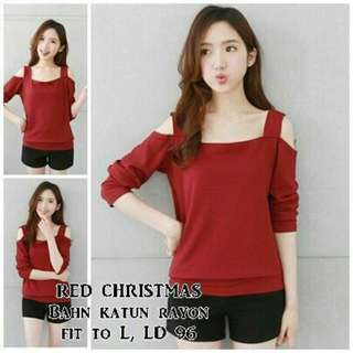 Red Xmast Cottoon Rayon