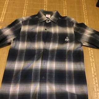 Unleash 格紋襯衫 L號