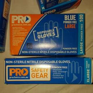 Non-Stirile Nitrile Disposable Gloves,powder Free (100 Pairs)