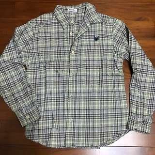 兒童格子襯衫