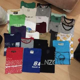 Kaos Tshirt Pria Size S-m