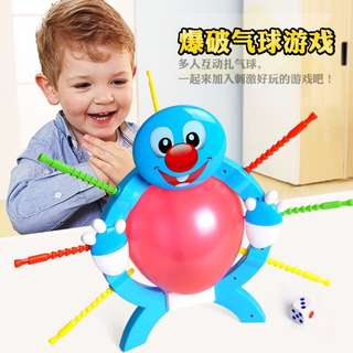 現貨 [M-001]🎈緊張刺激爆破氣球遊戲,派對遊戲 今天夯過年遊戲 桌遊  交換禮物