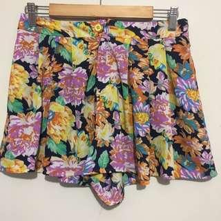 Floral Shorts Size 10