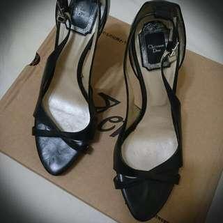 🚚 Dior黑色高跟涼鞋