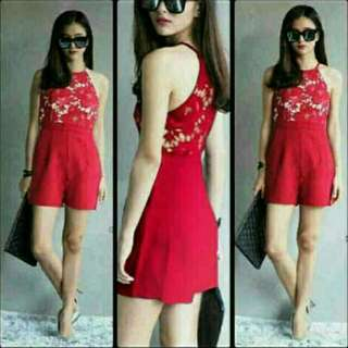 *New - Js Lace Red