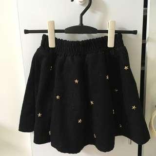 立體星星黑色短裙澎裙