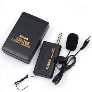 Wireless FM Lavalier Lapel Clip Microphone Set