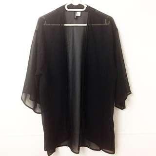 H&M Mesh Kimono Style Cardigan Small