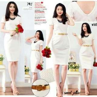 White Dress Body Fit