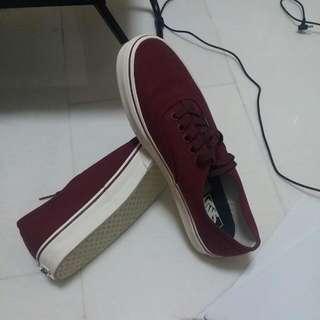 Oxblood Red Van's Shoes