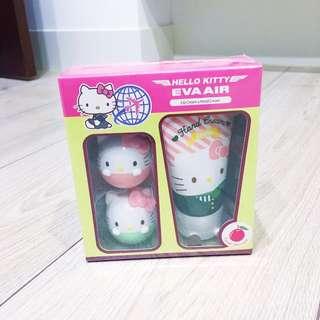 Hello Kitty 造型護手霜 護唇球套組