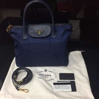 (Reduced Price) Prada Tessuto Saffian (blue)