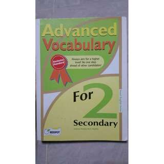 SEC 2 ADVANCED VOCABULARY ASSESSMENT BOOK