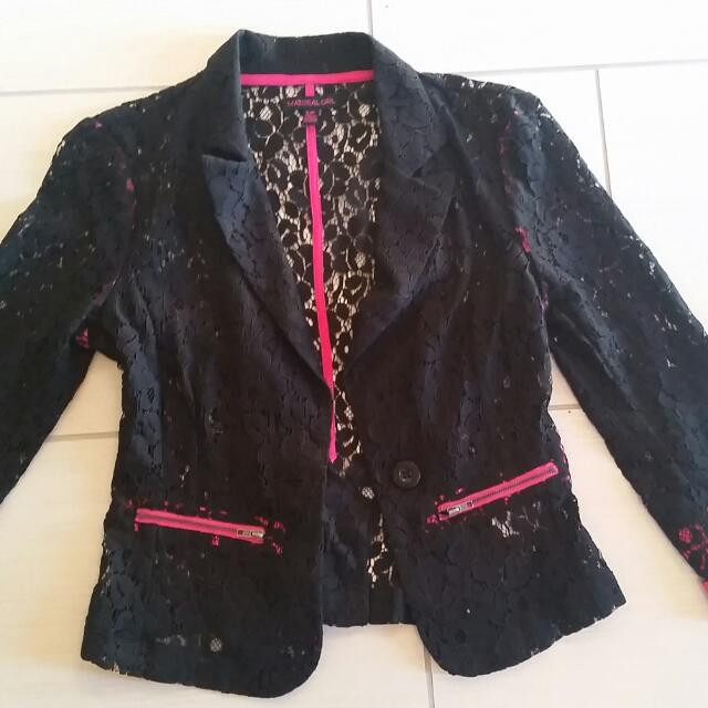 2 Material Girl Lace Jackets: XSmall