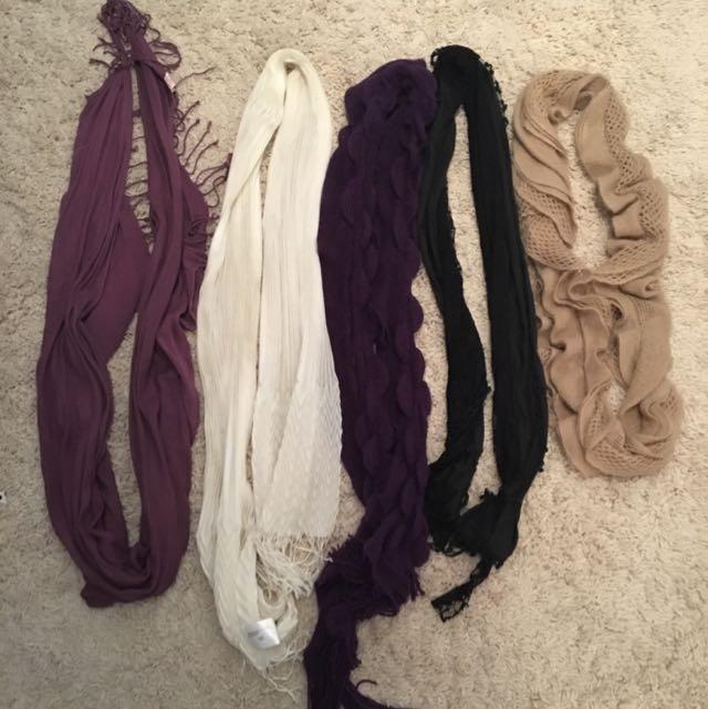 5 scarves