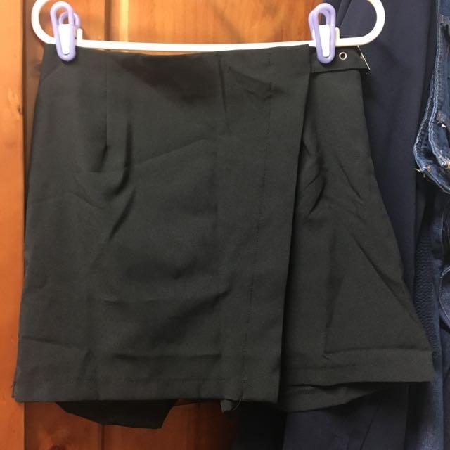 腰部扣環褲裙