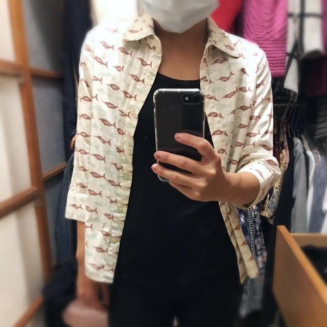 旗魚七分袖襯衫🐠🐠🐠