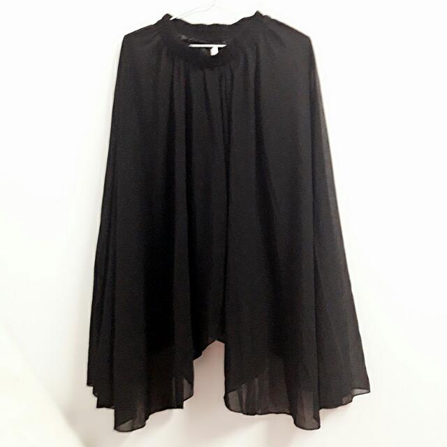 雪紡黑色長裙