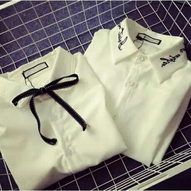全新現貨+預購特價韓系雪紡棉襯衫 共兩款