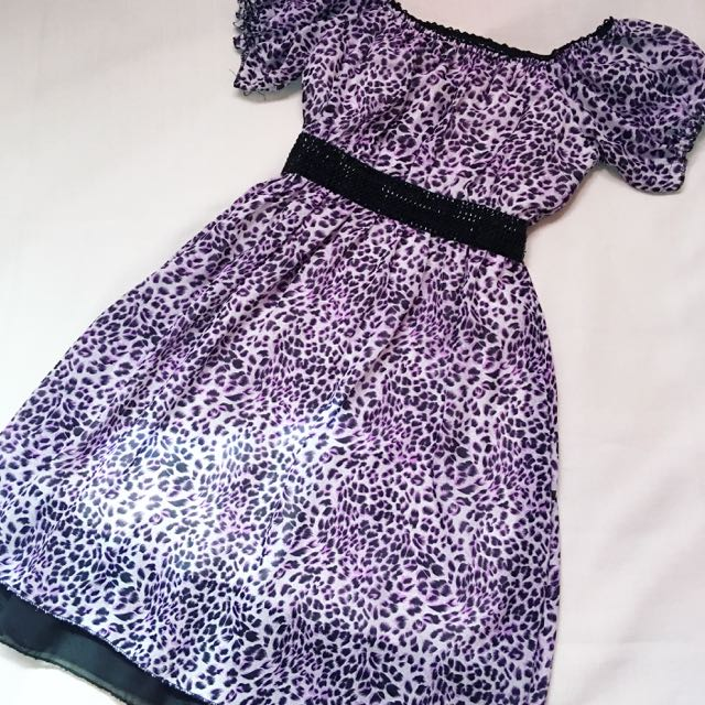 Animal-print Dress (FREE SHIPPING)