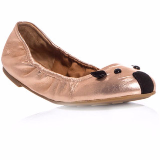 Authentic Marc by Marc Jacobs Mouse Flats Rose Gold Leather 35 5 RRP$380