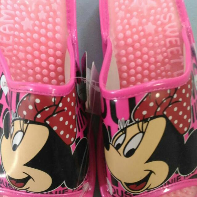 Authentic Minnie Mouse Slippers From Japan. Can Fit Perfectly On 5 To 6 Feet Size