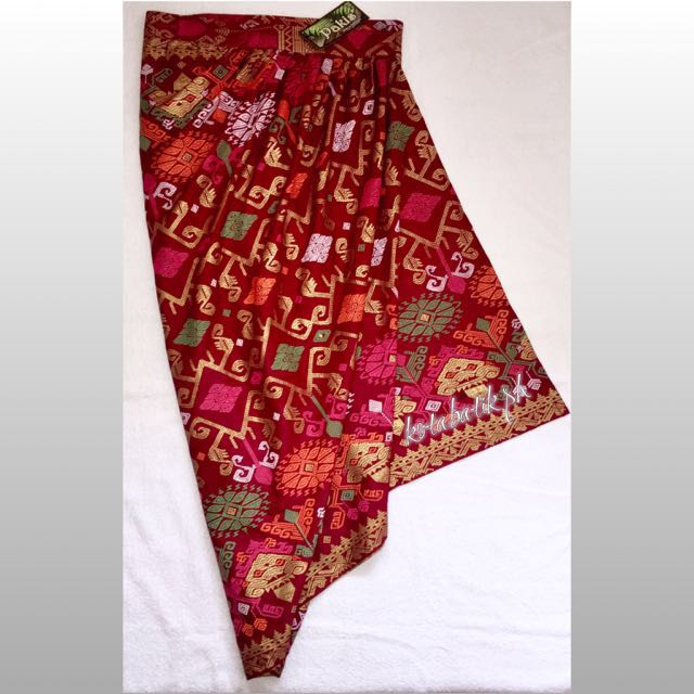 Batik Draped Skirt Wrap