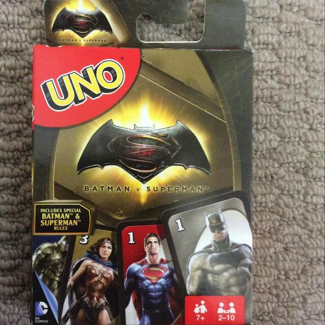 Batman Vs Superman Uno Card Game BRAND NEW