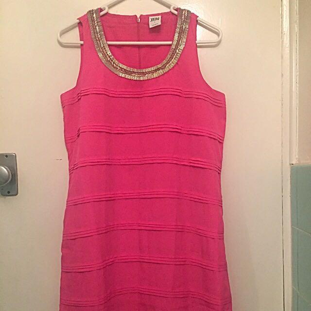 Beautiful Pink Designer Dress, Size Small