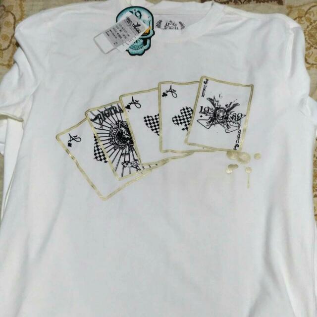 BIG TRAIN撲克牌長袖T恤