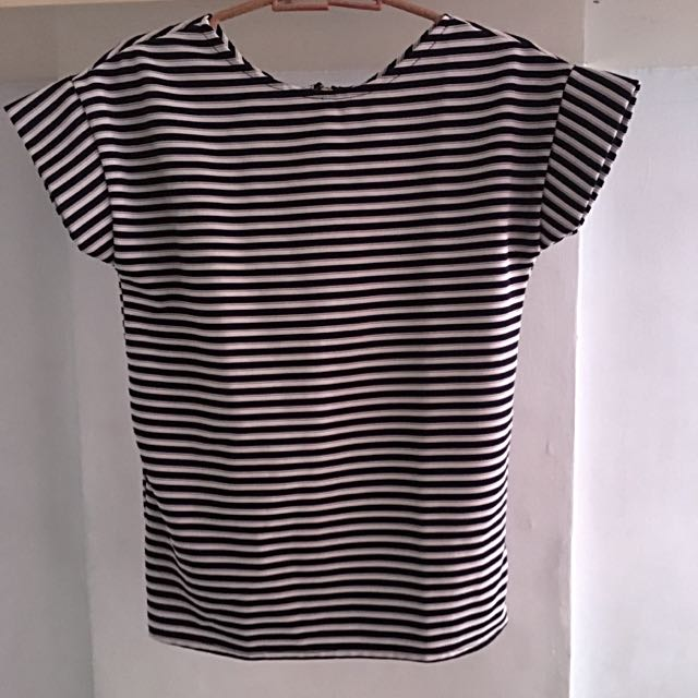 Black And White Stripes Top Blouse