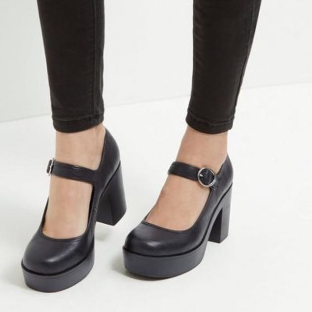 Black Mary Jane Shoes Size 7
