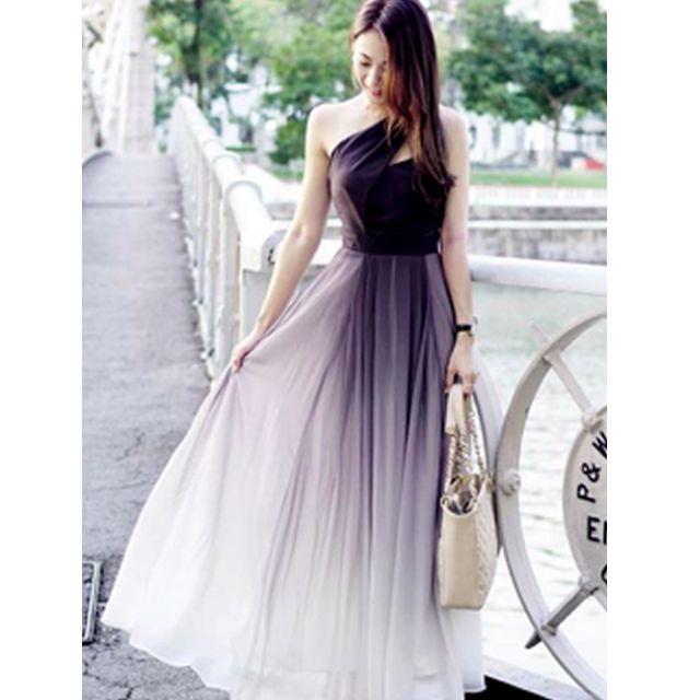 BNIB Theory Of Seven TOS Bernad Bernard Ombre Toga Maxi Dress, Size ...